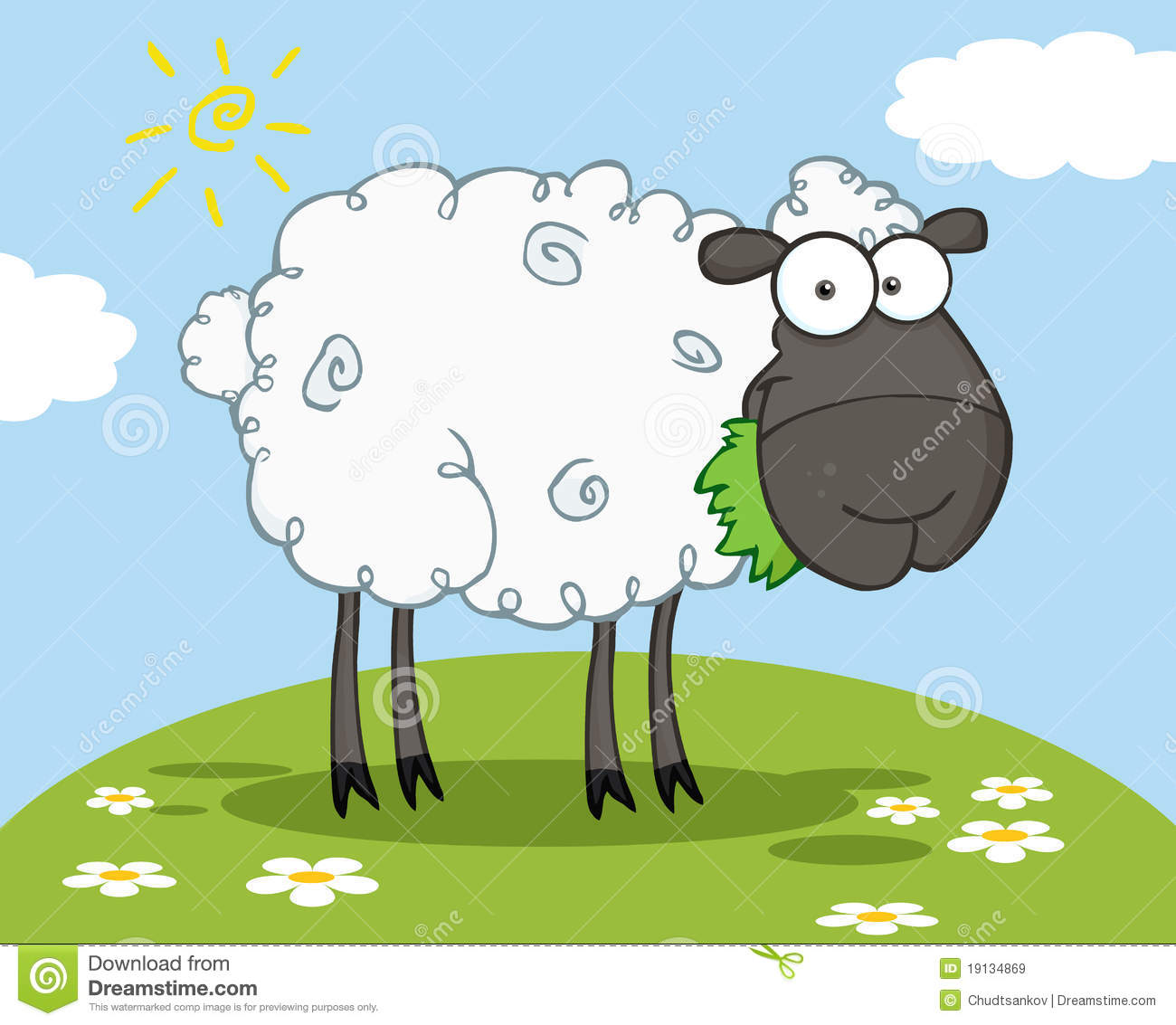 Black Sheep Cartoon Character Royalty Free Stock Images - Image ...