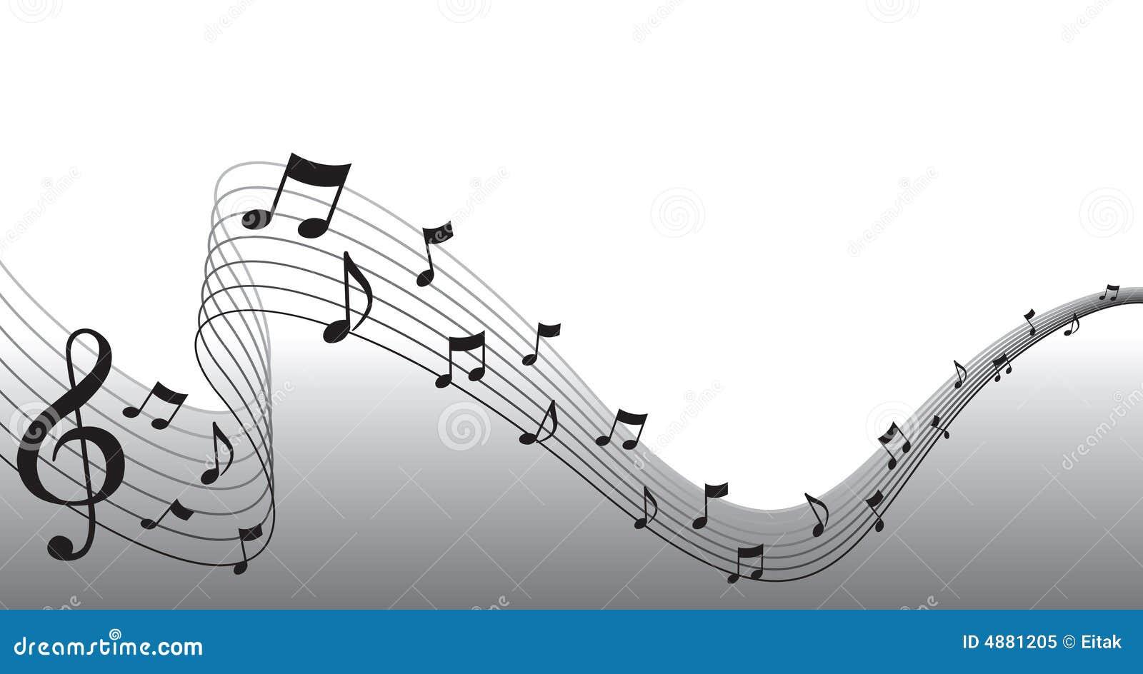 Music clipart border for Image de fond