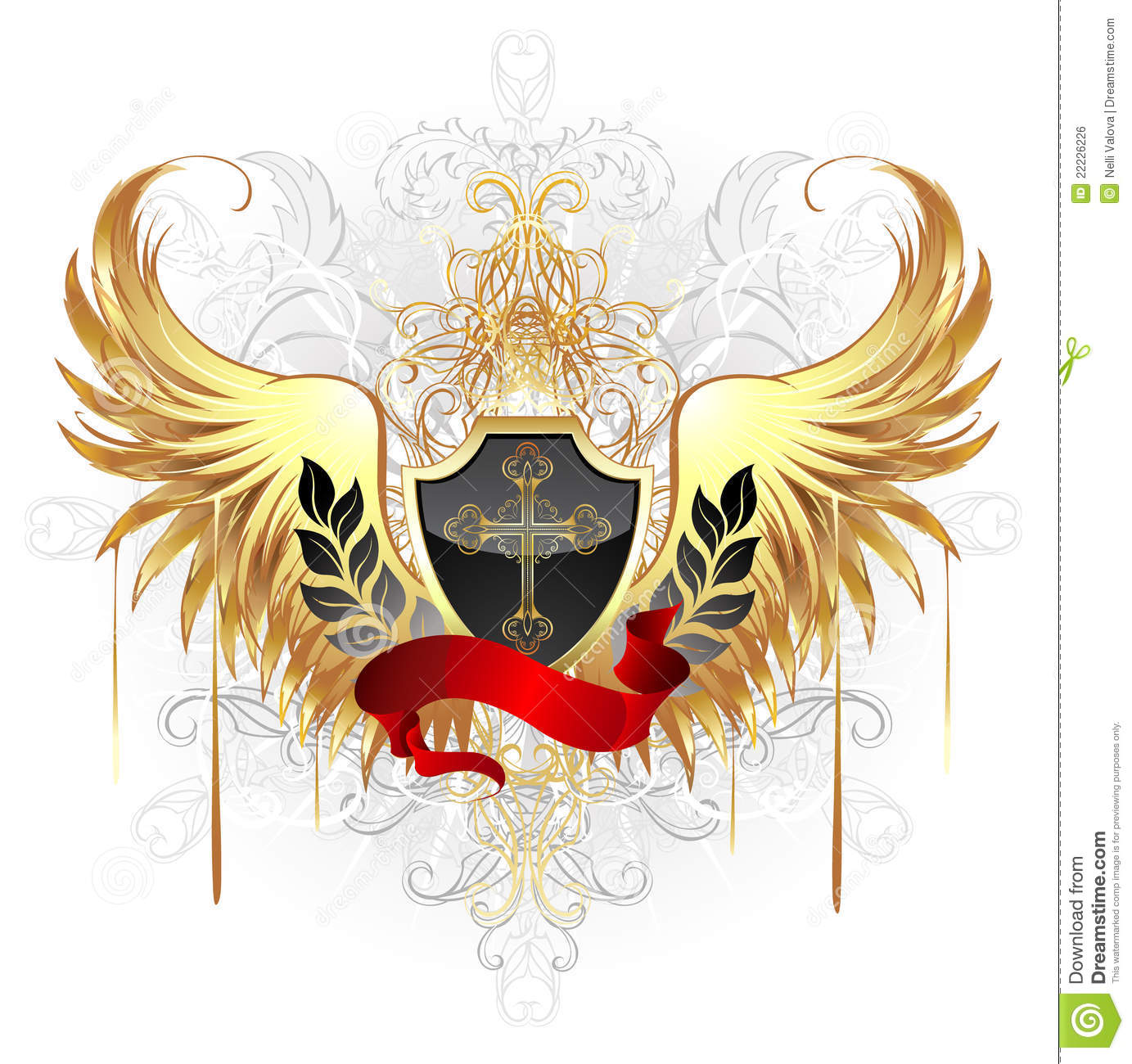 Shield design set royalty free stock photos image 5051988 - Black Shield With Golden Wings Royalty Free Stock Image