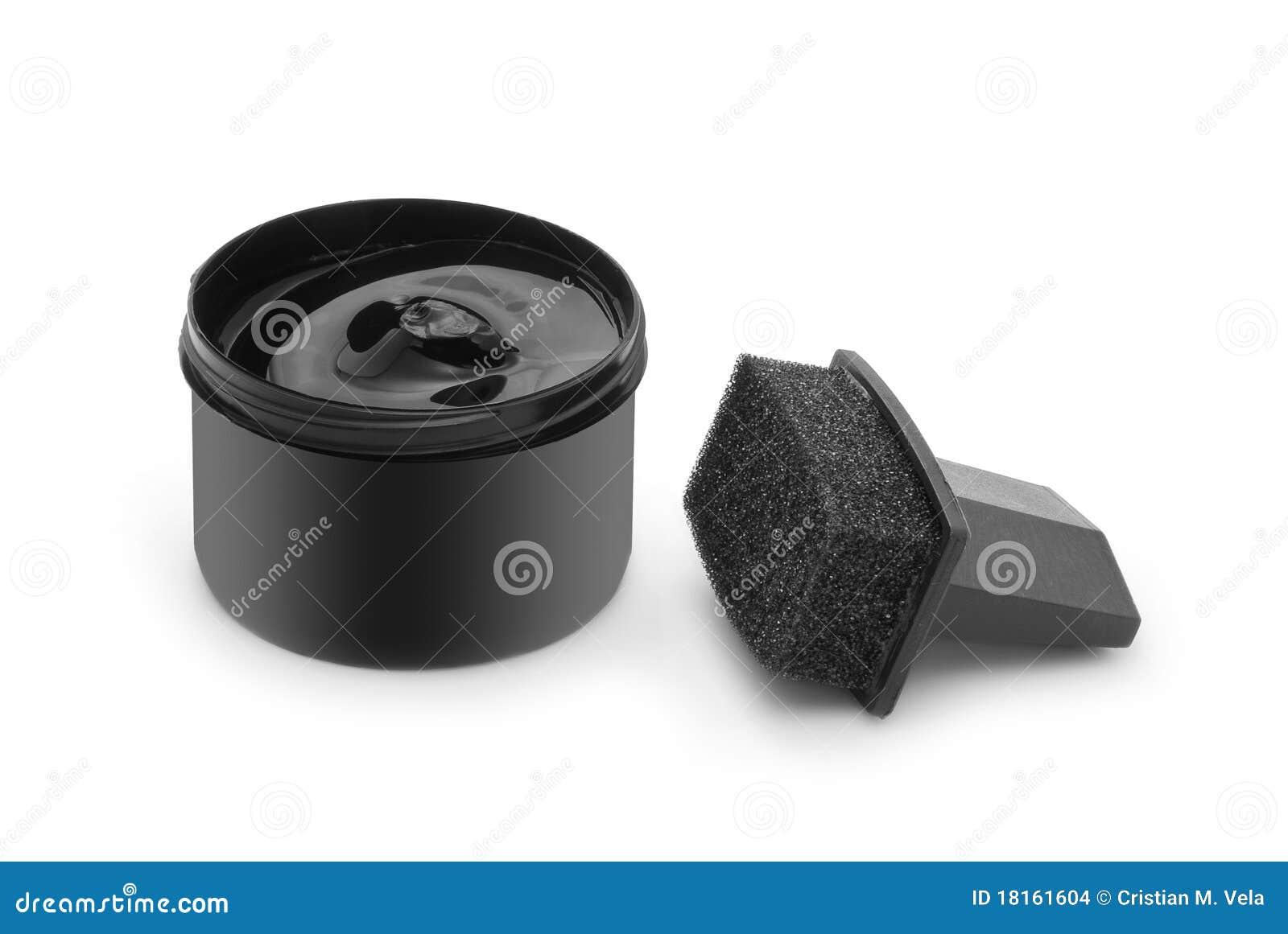 Stock Images: Black shoe polish