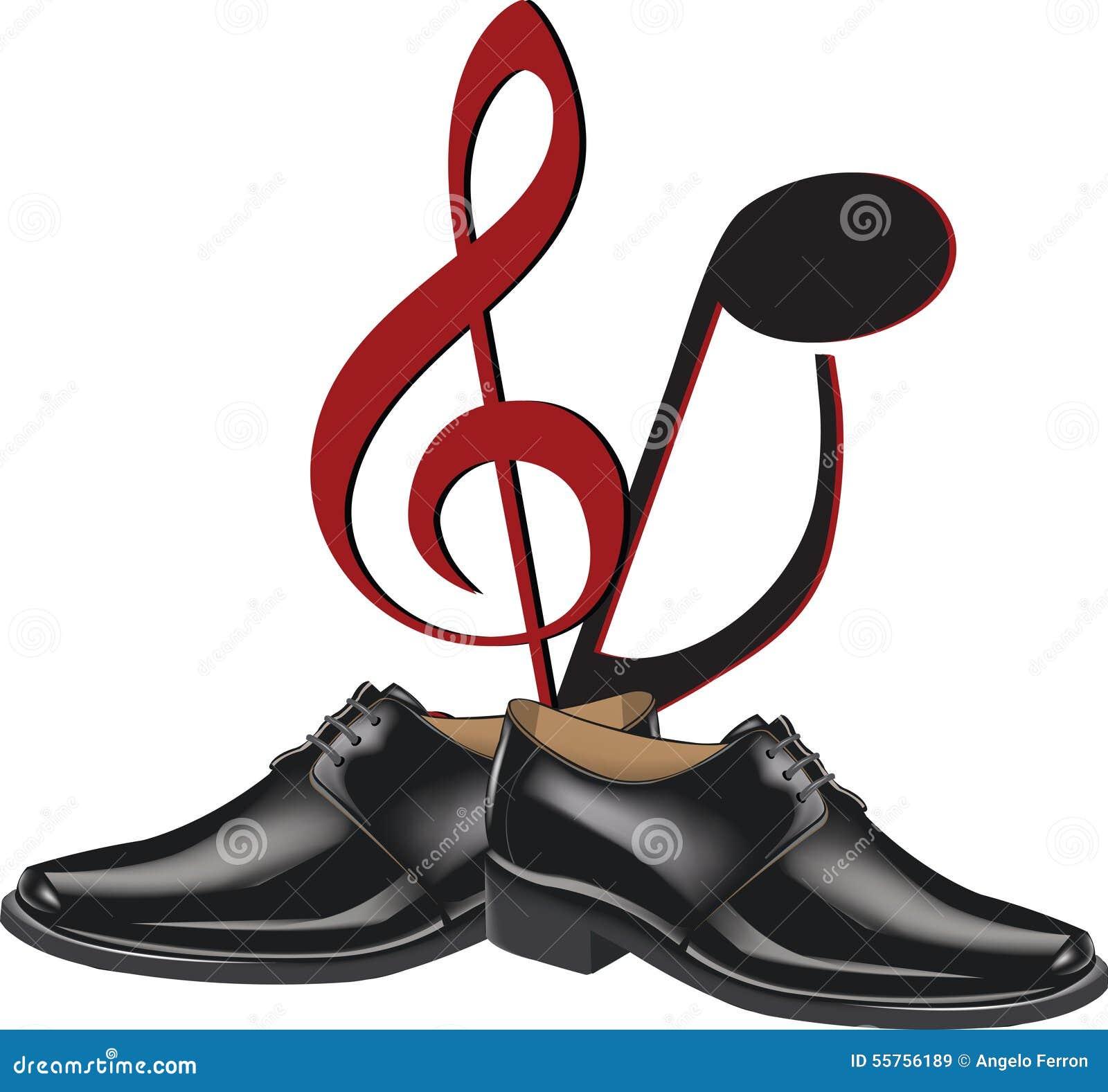 Black Shoes Dance Stock Vector Illustration Of Music 55756189
