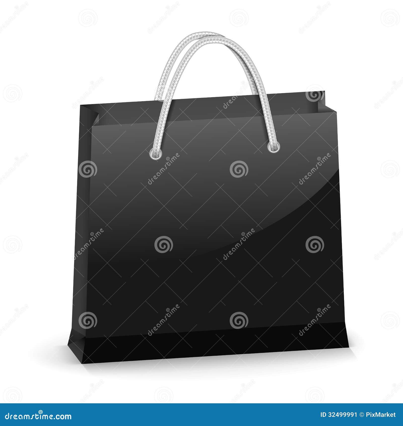 Black Shopping Bag Stock Image - Image: 32499991