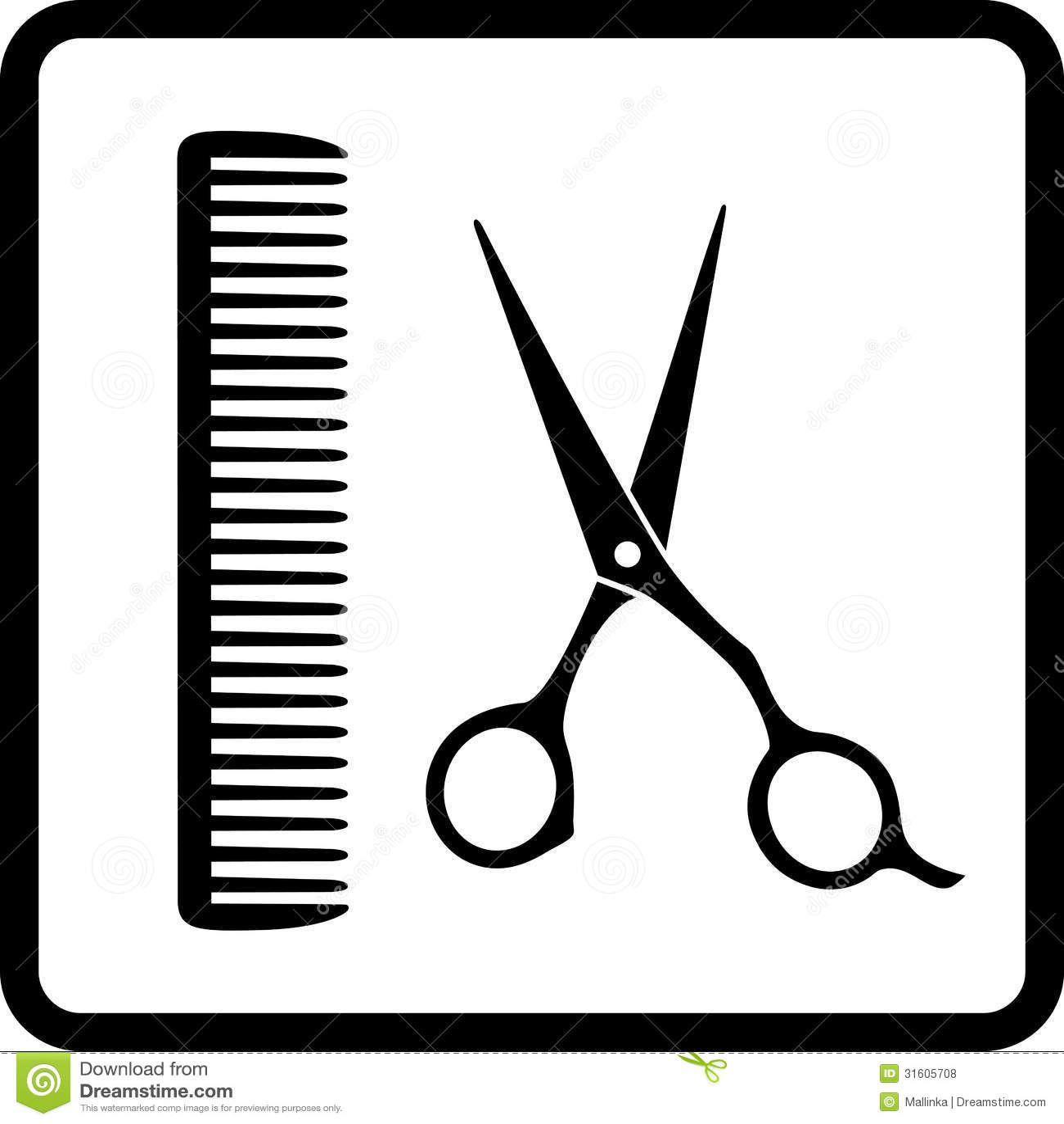 Black Sign Of Man Hair Salon Stock Vector