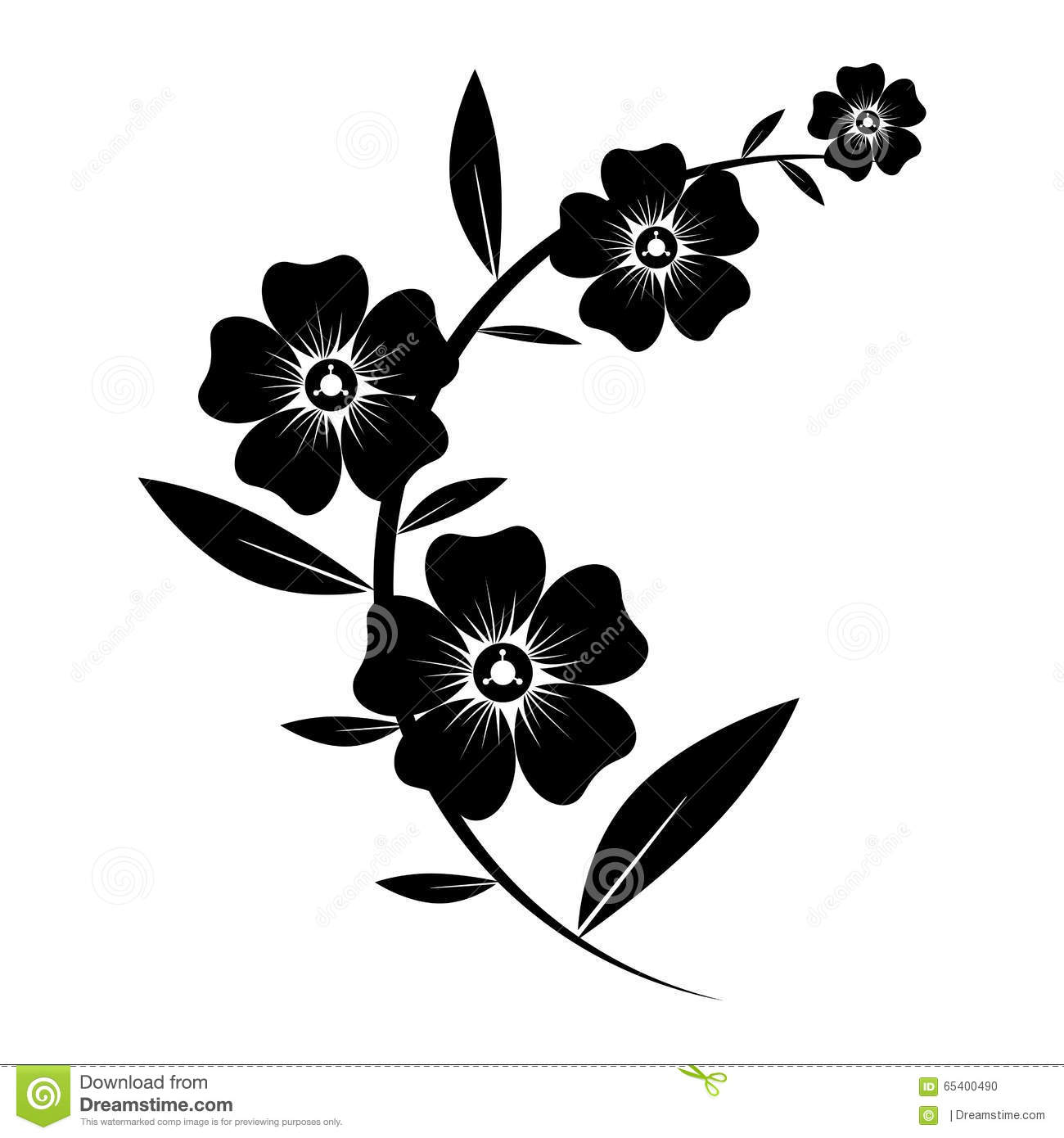 Black And White Flower Silhouette to Pin on Pinterest PinsDaddy