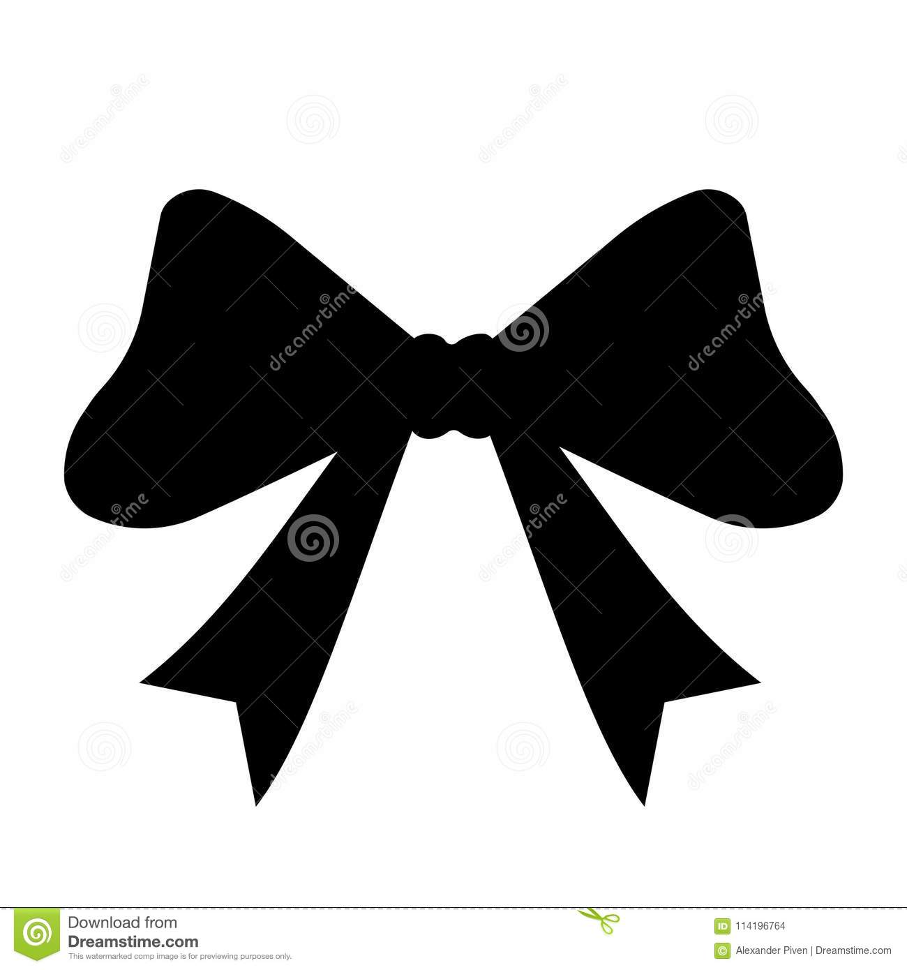 black silhouette gift bows concept for invitation banners gift