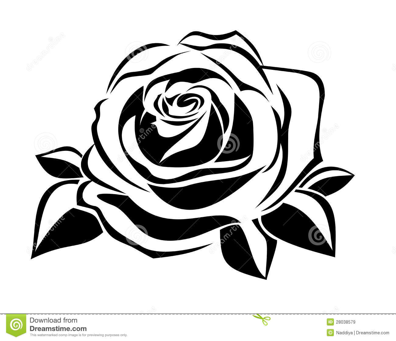 black silhouette of rose vector illustration stock vector rh dreamstime com rose vector artwork rose vector art free