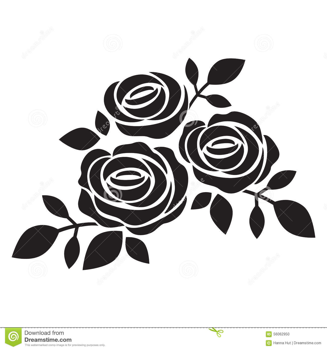 Black And White Rose Silhouette Pictures to Pin on ...