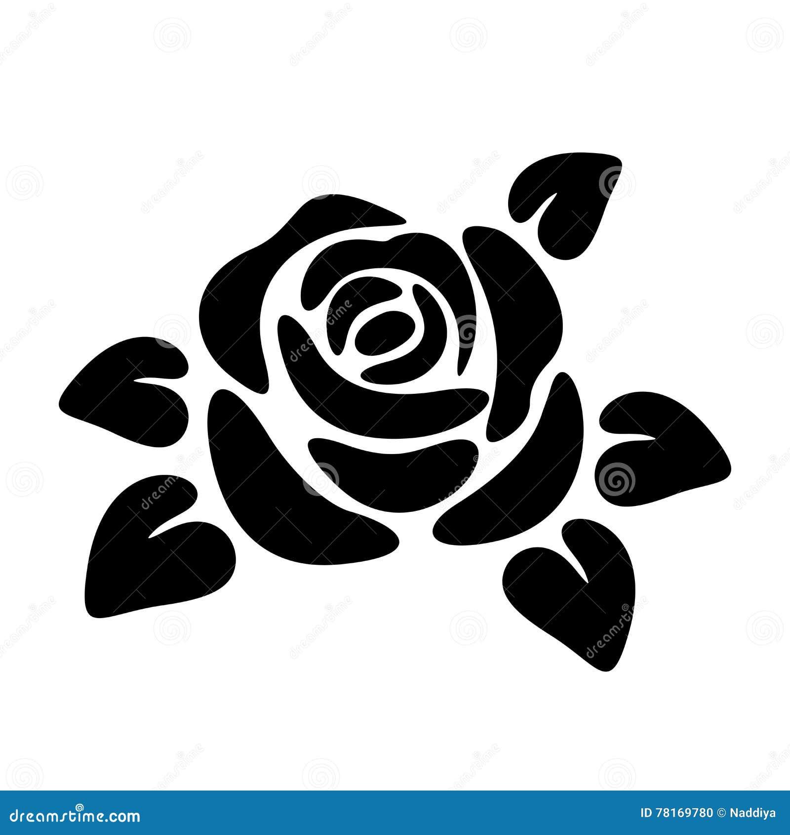 Rose vector illustrations stock vector illustration of jilani black silhouette of a rose vector illustrations stock photo voltagebd Choice Image