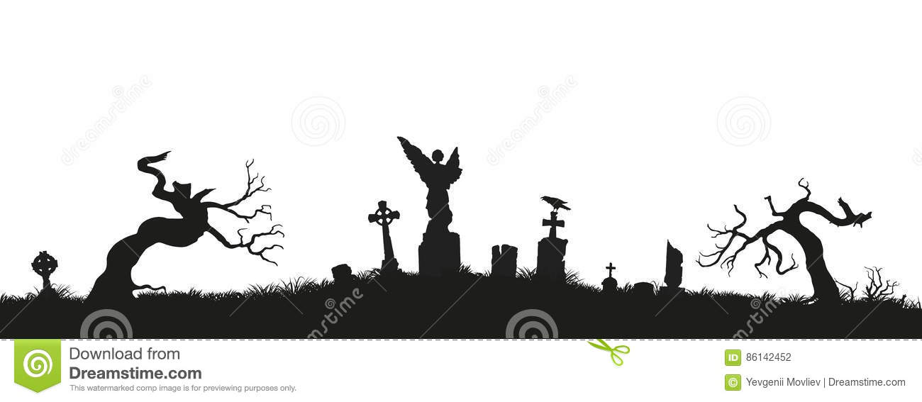 black silhouettes of tombstones  crosses and gravestones Candy Cane Clip Art Candy Cane Clip Art