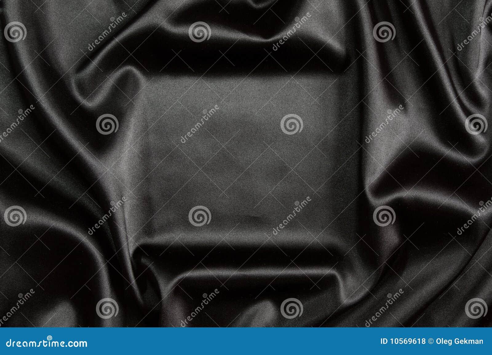 Black silk textile background