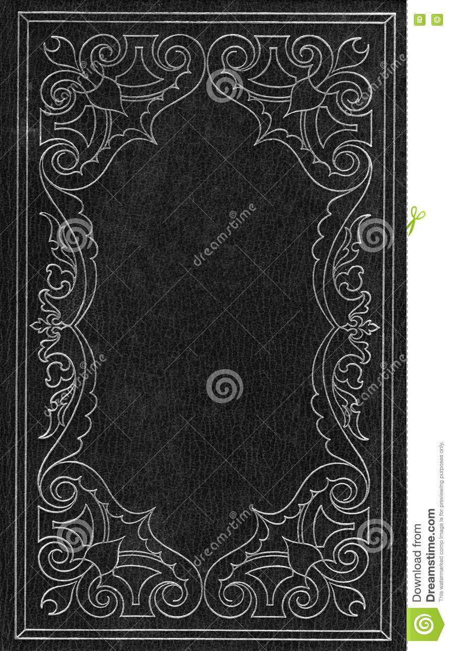 Book Cover Black : Black and silver leather cover stock illustration image