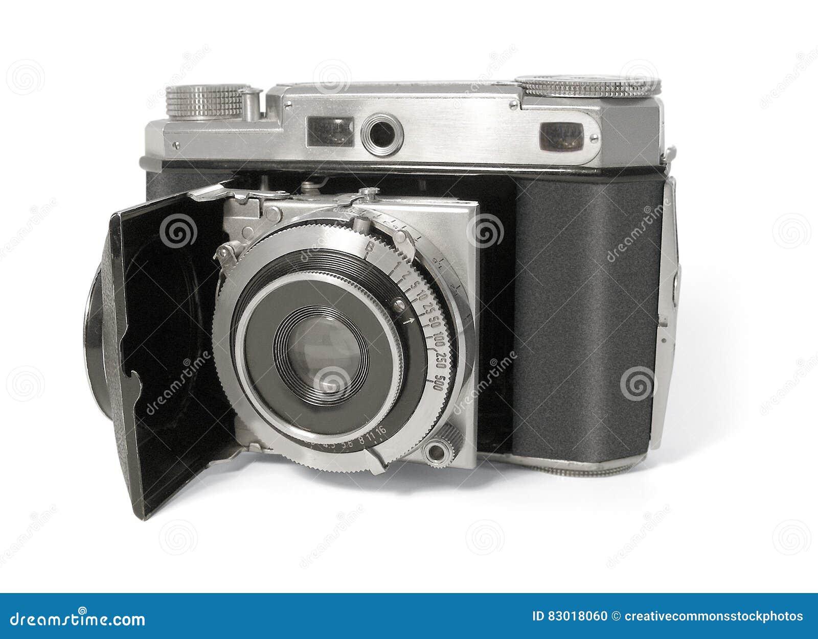 Download Black And Silver Mirrorless Camera Stock Photo - Image of analog, photo: 83018060