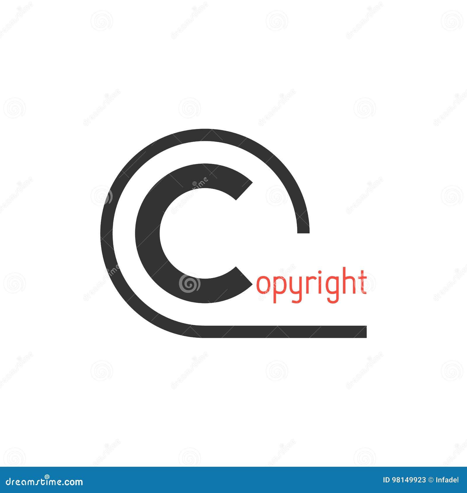 Black Simple Copyright Symbol Stock Vector Illustration Of