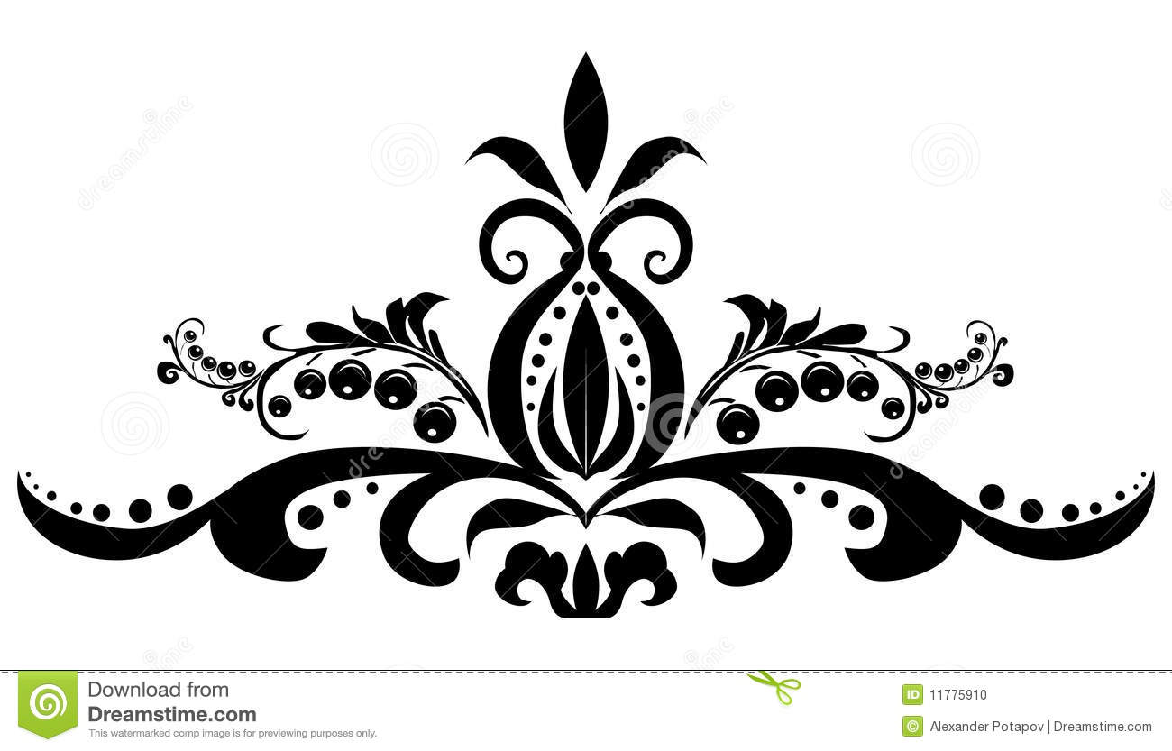Black Simple Design With Berries Stock Vector Illustration Of