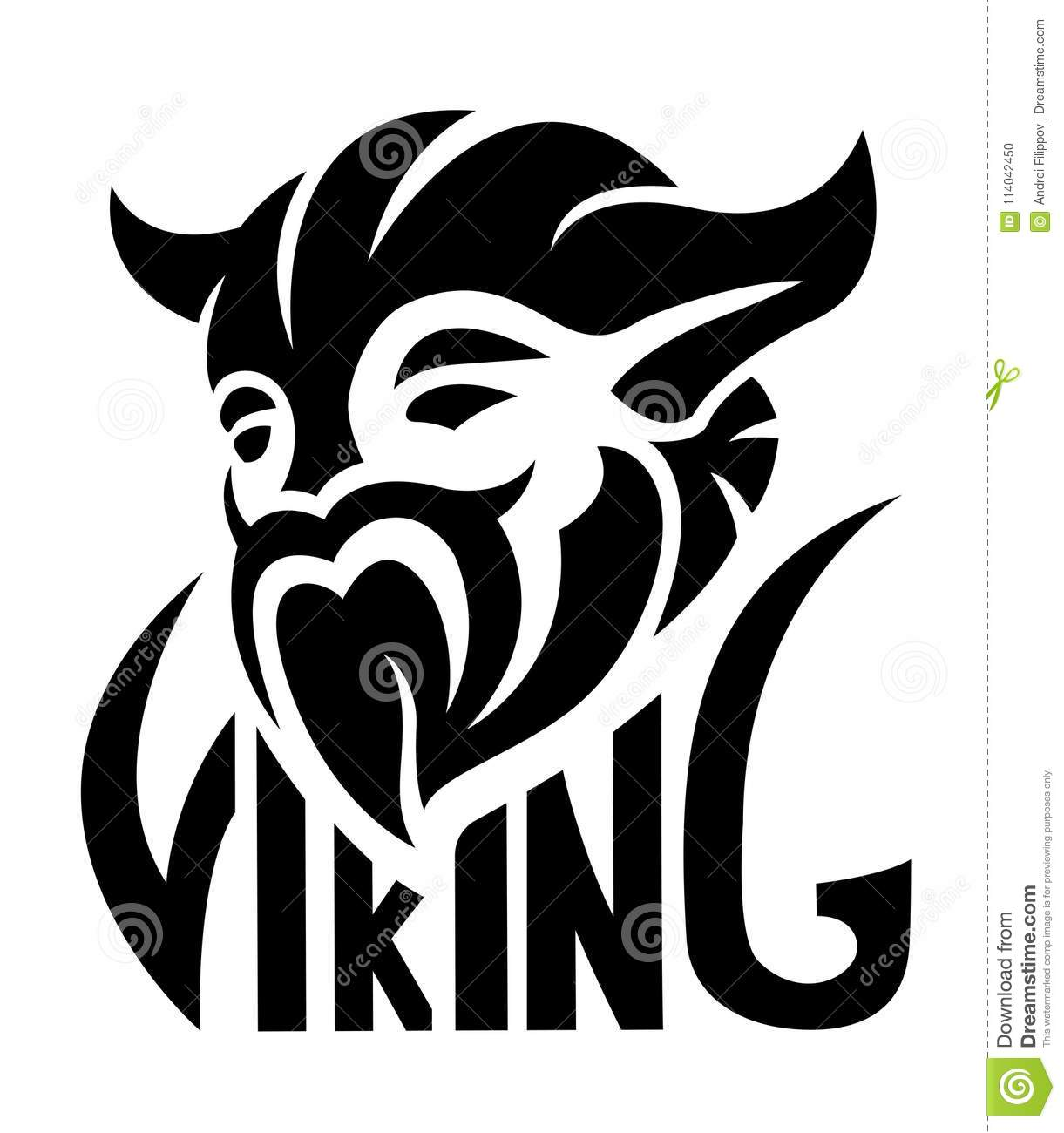 00f14a21e8340 Flat black icon with vikings face on white background. More similar stock  illustrations. Trident Logo Template vector icon illustration design ...