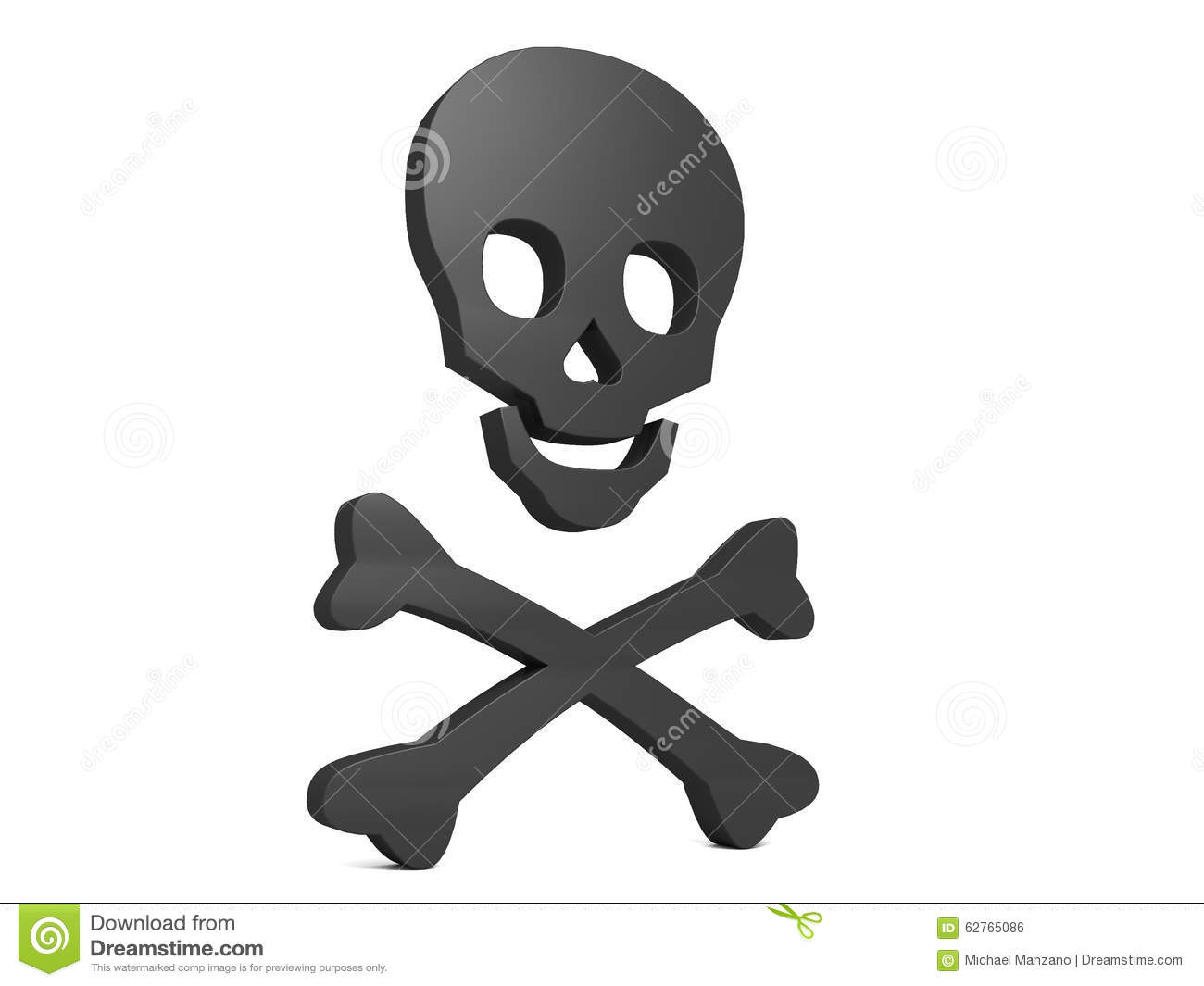 Black Skull Symbol Of Poison Stock Illustration - Image: 62765086