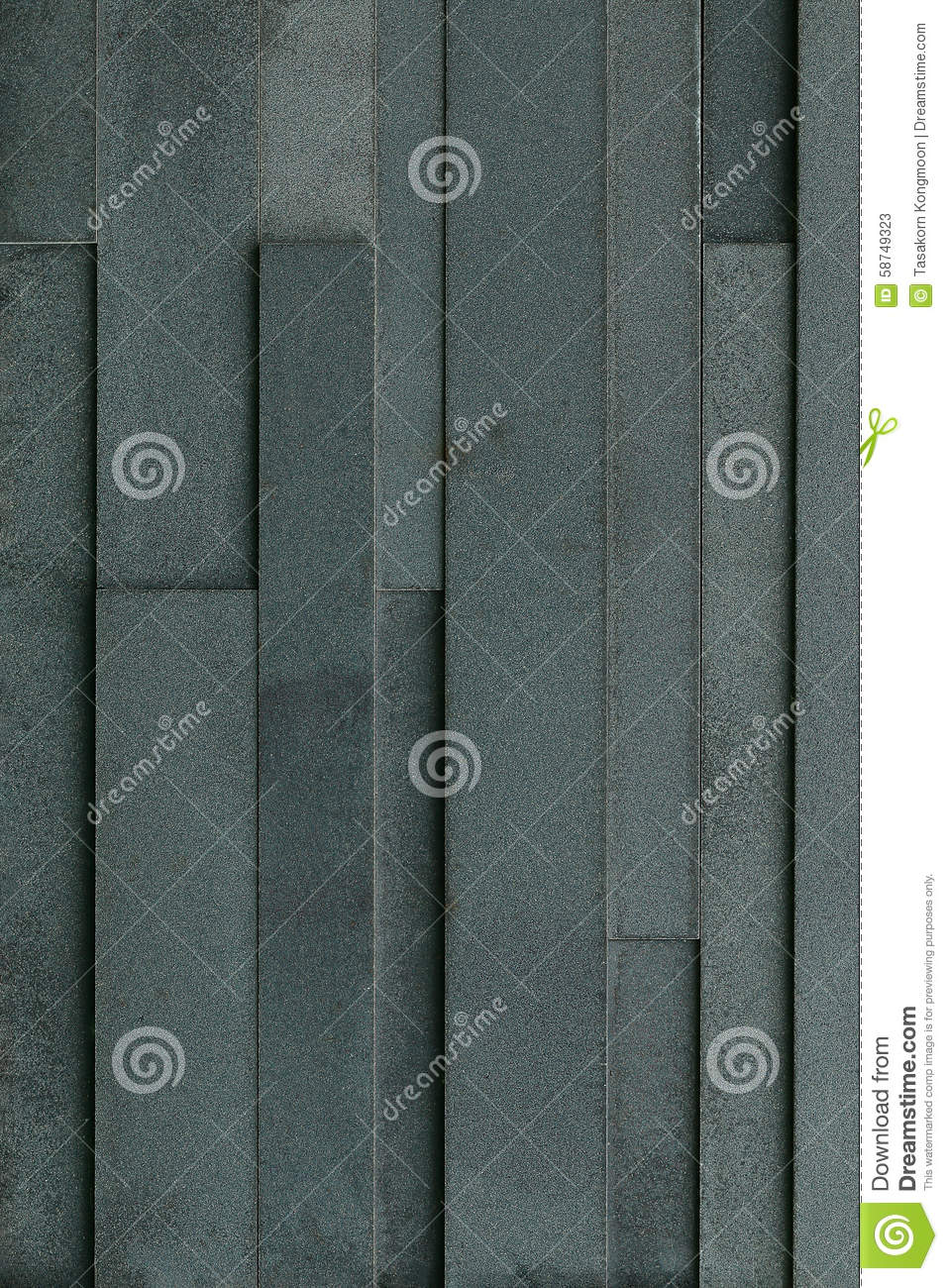 Black Slate Patter : Black slate brick wall for pattern and background stock