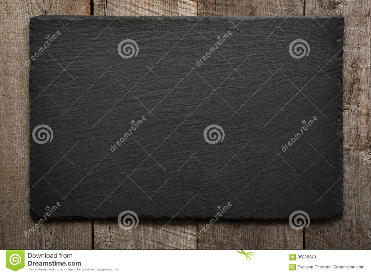 Download Black Slate Tile On Wooden Background. Top View. Stock Image - Image of banner, background: 96838349
