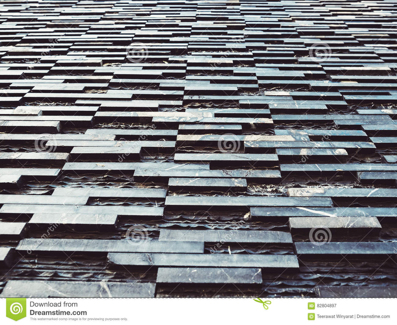 Black Slate Wall Tile Background Architecture Detail Stock Image ...