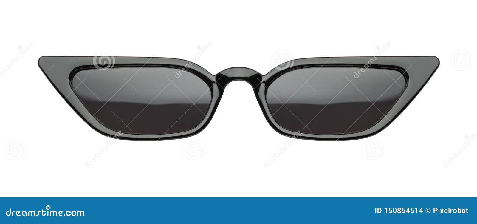 Black Slim Pointed Sunglasses