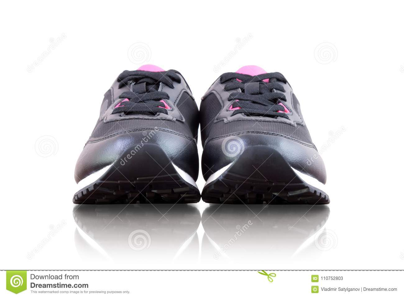 b78bd227 Black sneakers stock image. Image of healthy, exercise - 110752803