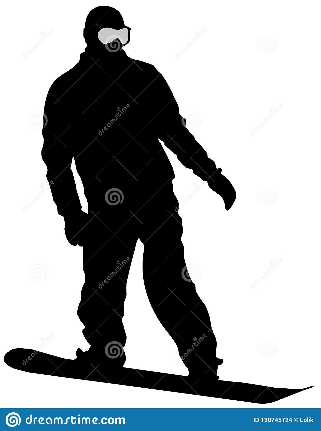 Black Snowboarder Flat Icon on White Background