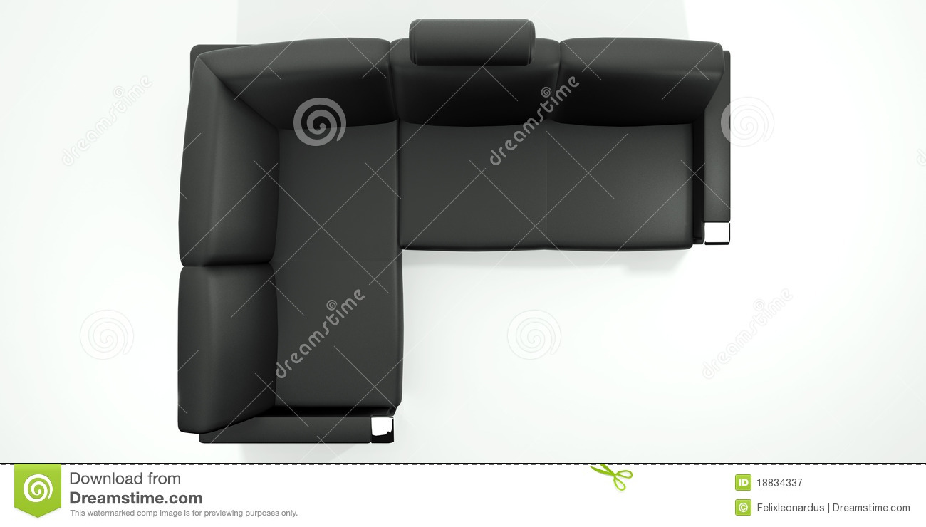 Black Sofa Royalty Free Stock Photography Image 18834337