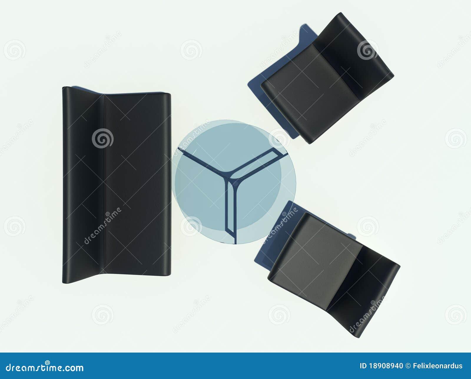 Black Sofa Set Stock Photo Image 18908940
