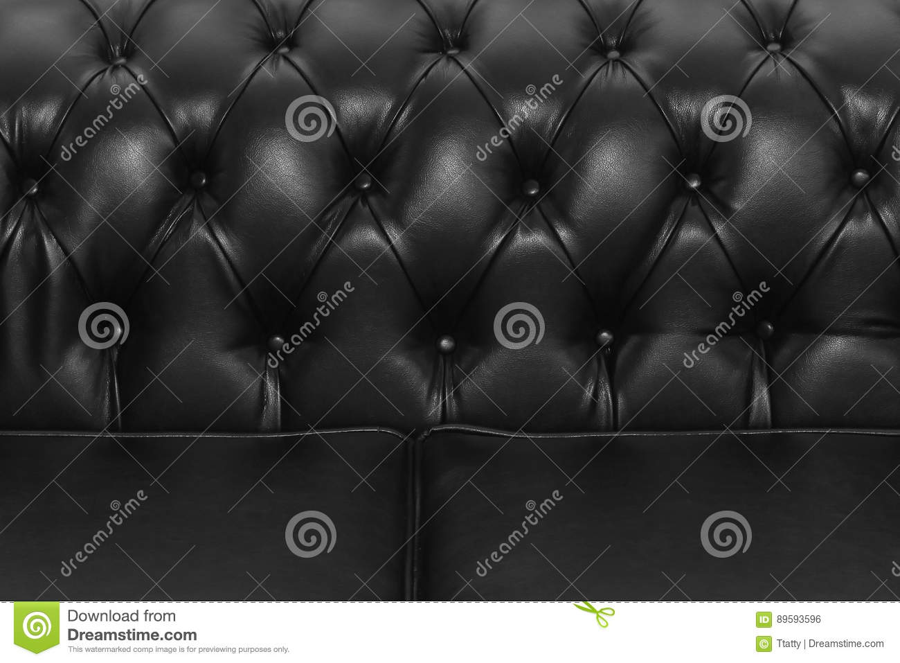 Black Sofa Upholstery Stock Photo Image Of Leather Material 89593596