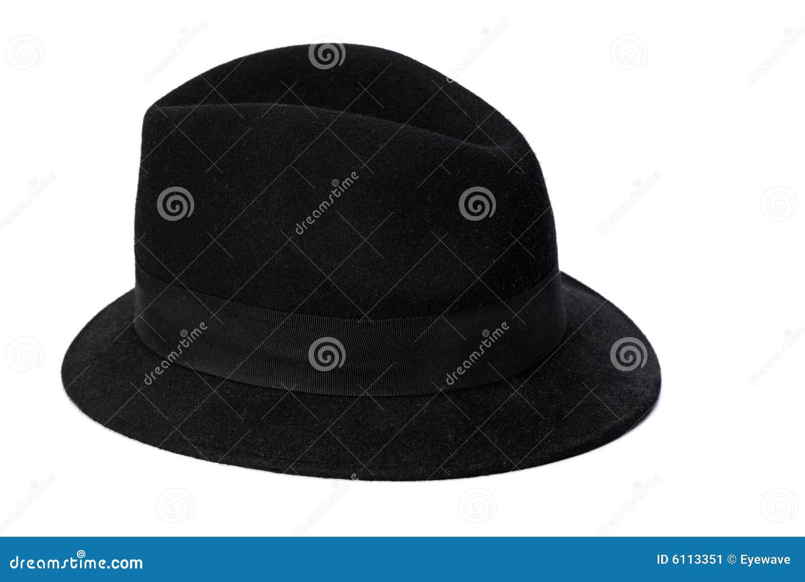 5a6fe9adc12a3 Black Soft Felt Hat Isolated Stock Image - Image of felt