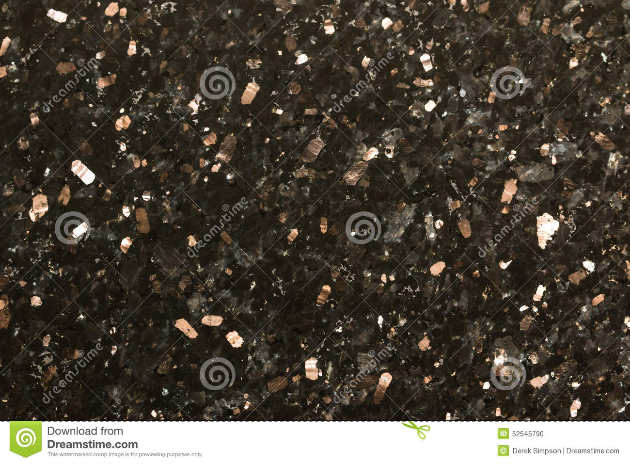 Black Sparkle Polished Granite Abstract Background Stock