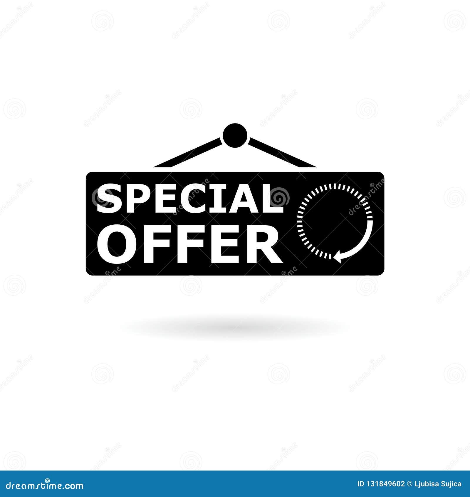 Black Special Offer Flat Design Web Icon Or Logo Stock Vector Illustration Of Shop Advertising 131849602