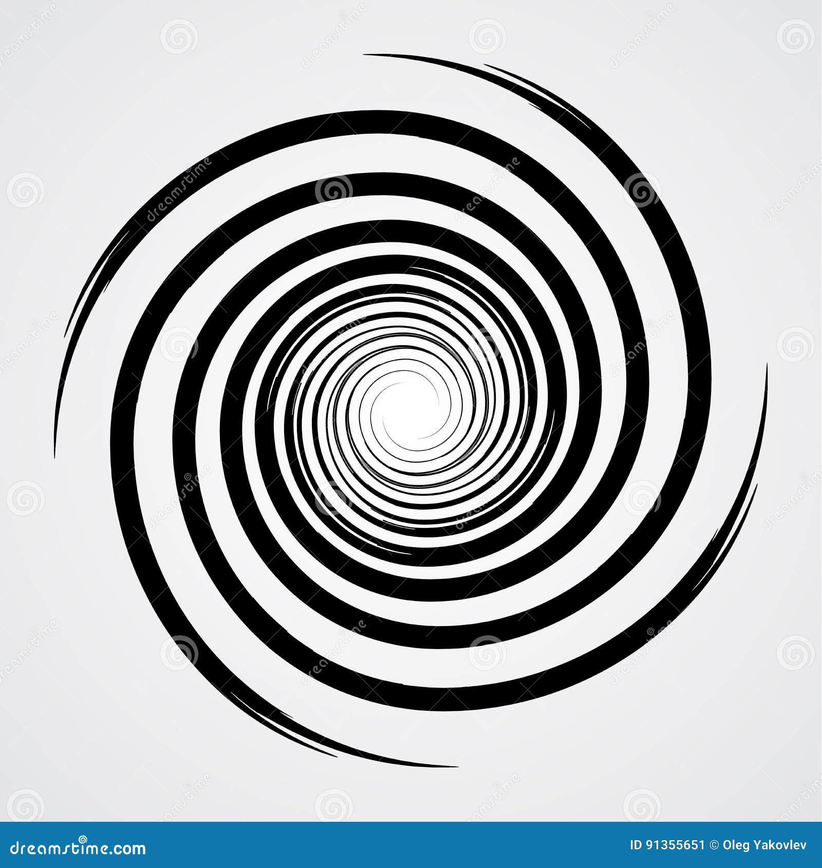 black spiral swirl circle stock vector illustration of hypnotic