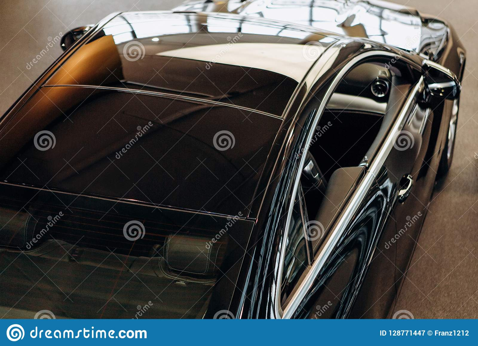 Black Sport Car Top View Stock Image Image Of Rent 128771447