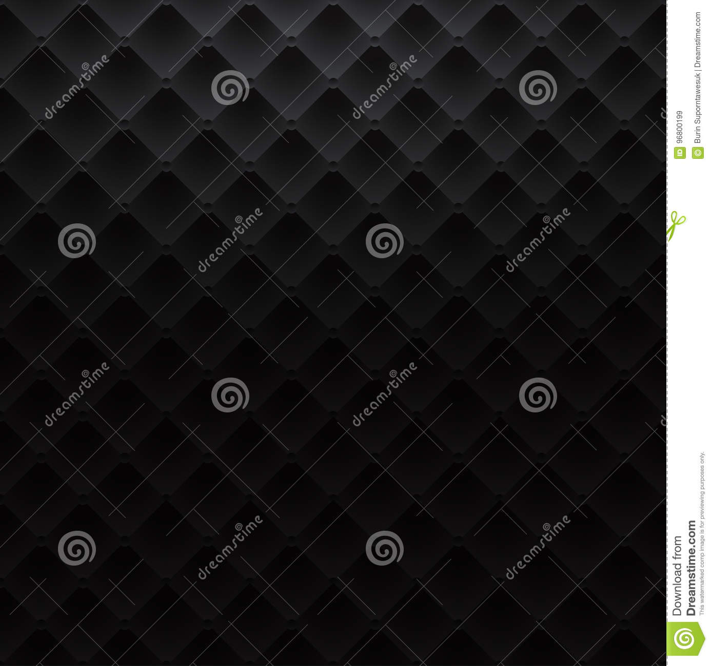 Black Square Luxury Pattern Sofa Texture Background Stock Vector