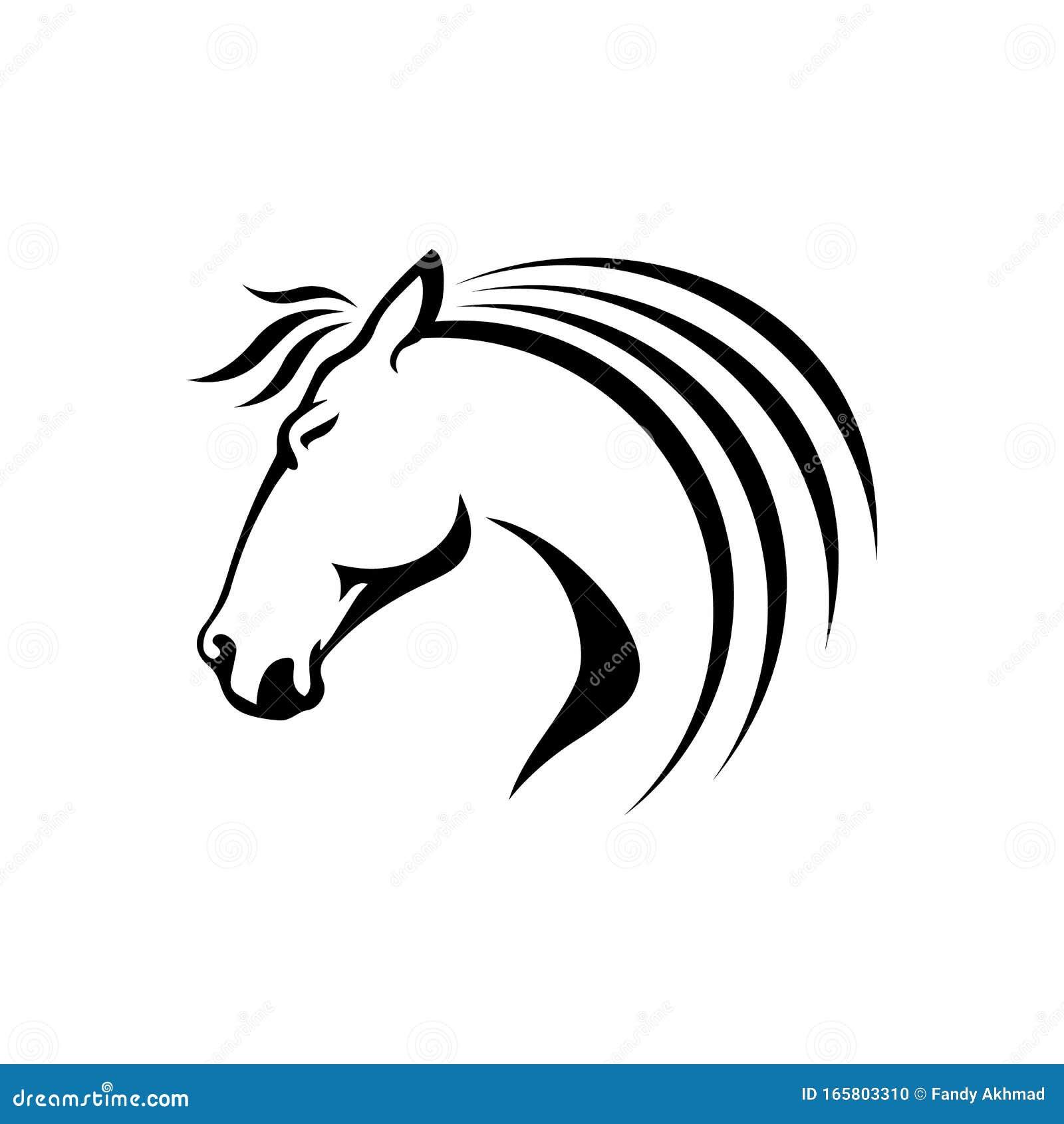 Black Stallion Horse Head Logo Vector Symbol The Silhoutte Of Black Horse Illustration Design Stock Vector Illustration Of Horses Graphic 165803310