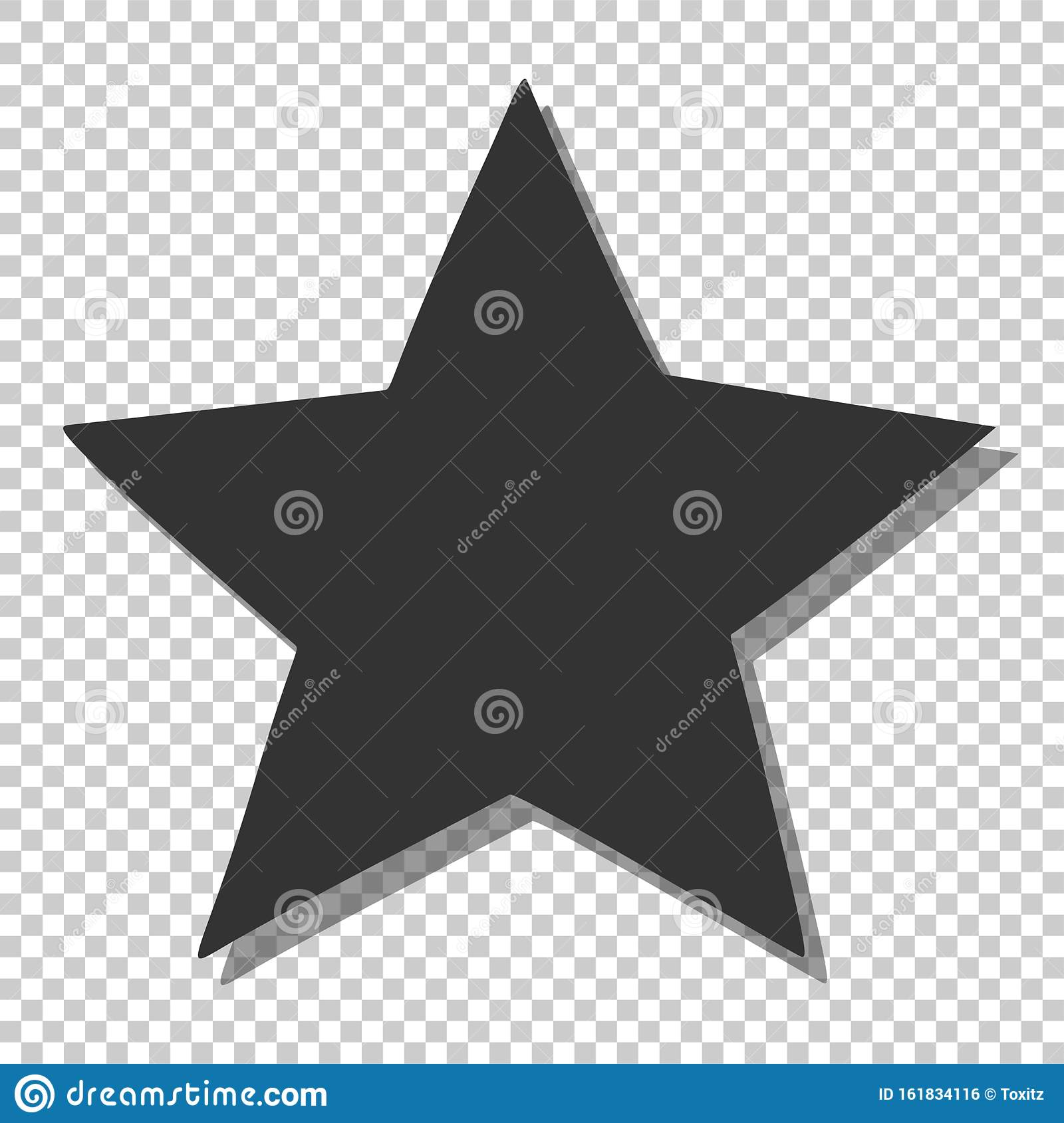 Black star icon. Simple clipart, template for rating, space and sky