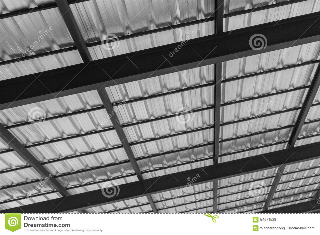 Black steel roof with metal roofing sheets stock photo image 54571528 - Black metal roof pictures ...