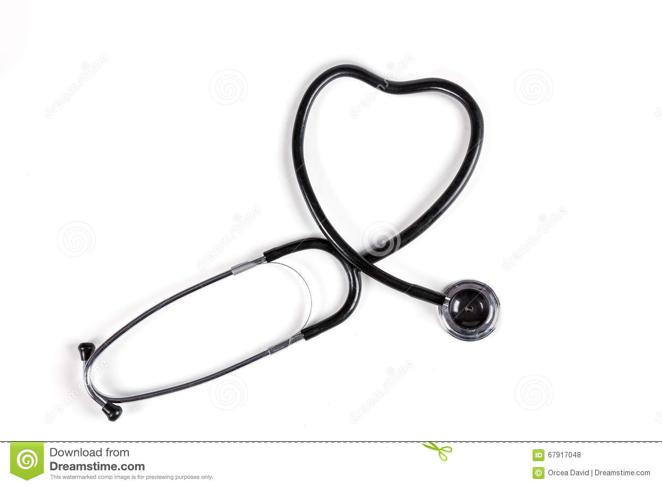 Black Stethoscope Heart stock photo. Image of first ...