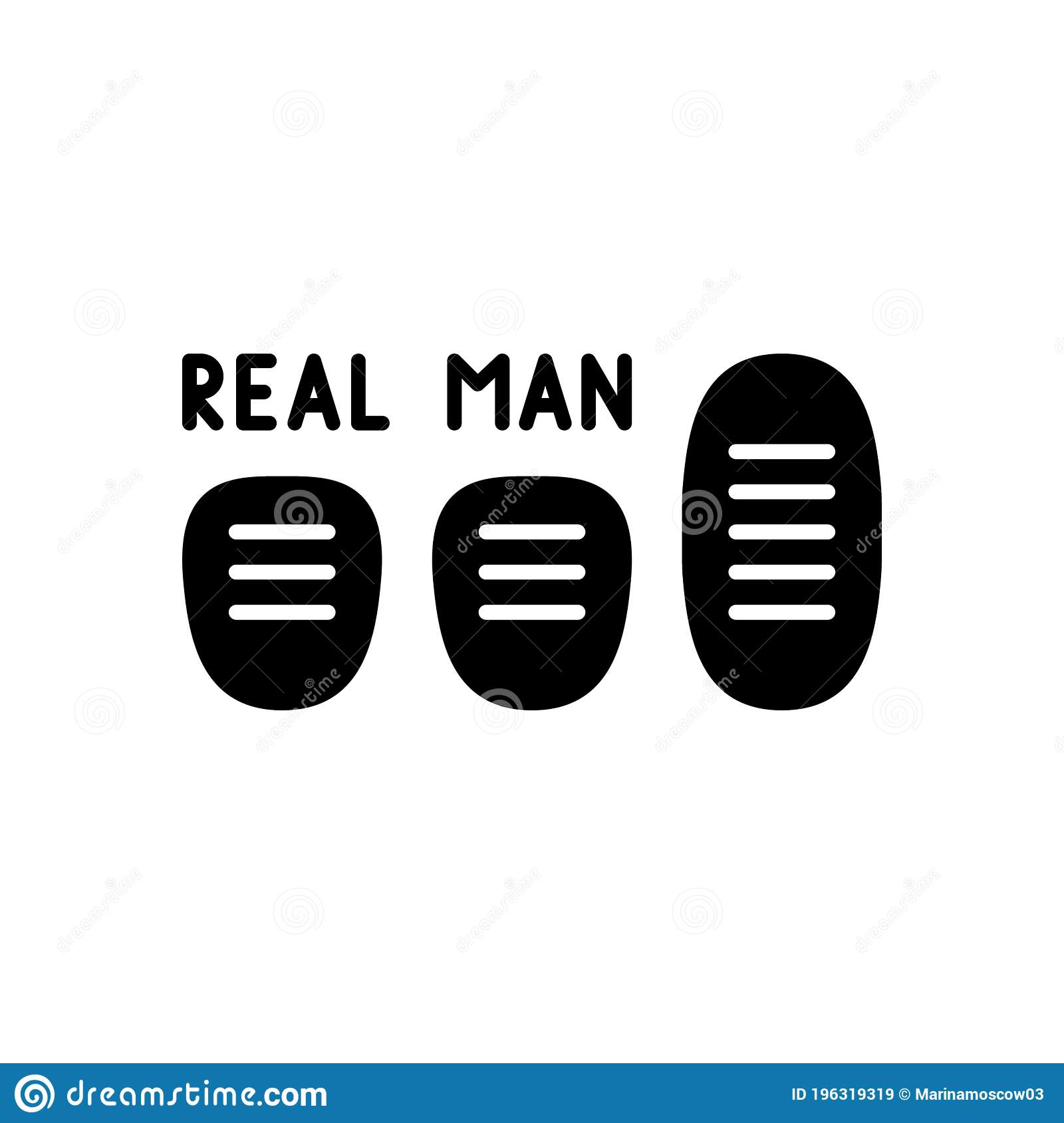 Black Sticker For Auto Three Car Pedals With Lettering Real Man Graphic Silhouette Illustration For Manual Transmission Flat Stock Vector Illustration Of Lettering Silhouette 196319319