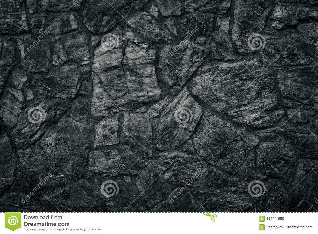 Download Black Stone Wall Texture As Sinister Gothic Background Stock Photo