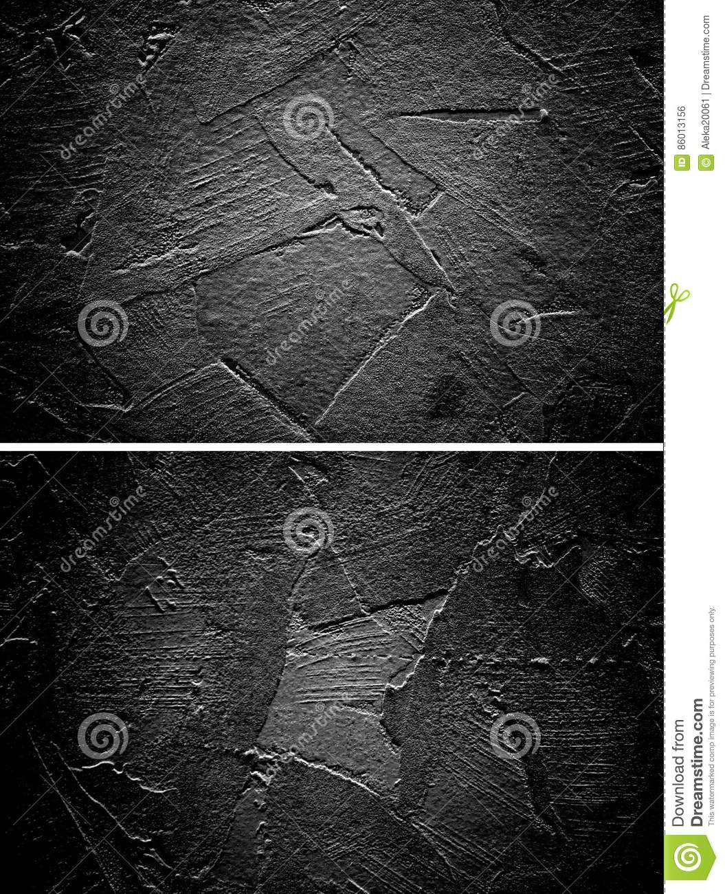 Download Black Stucco Wall Texture Set Gothic Plaster Ribbed Blank Background Stock Photo