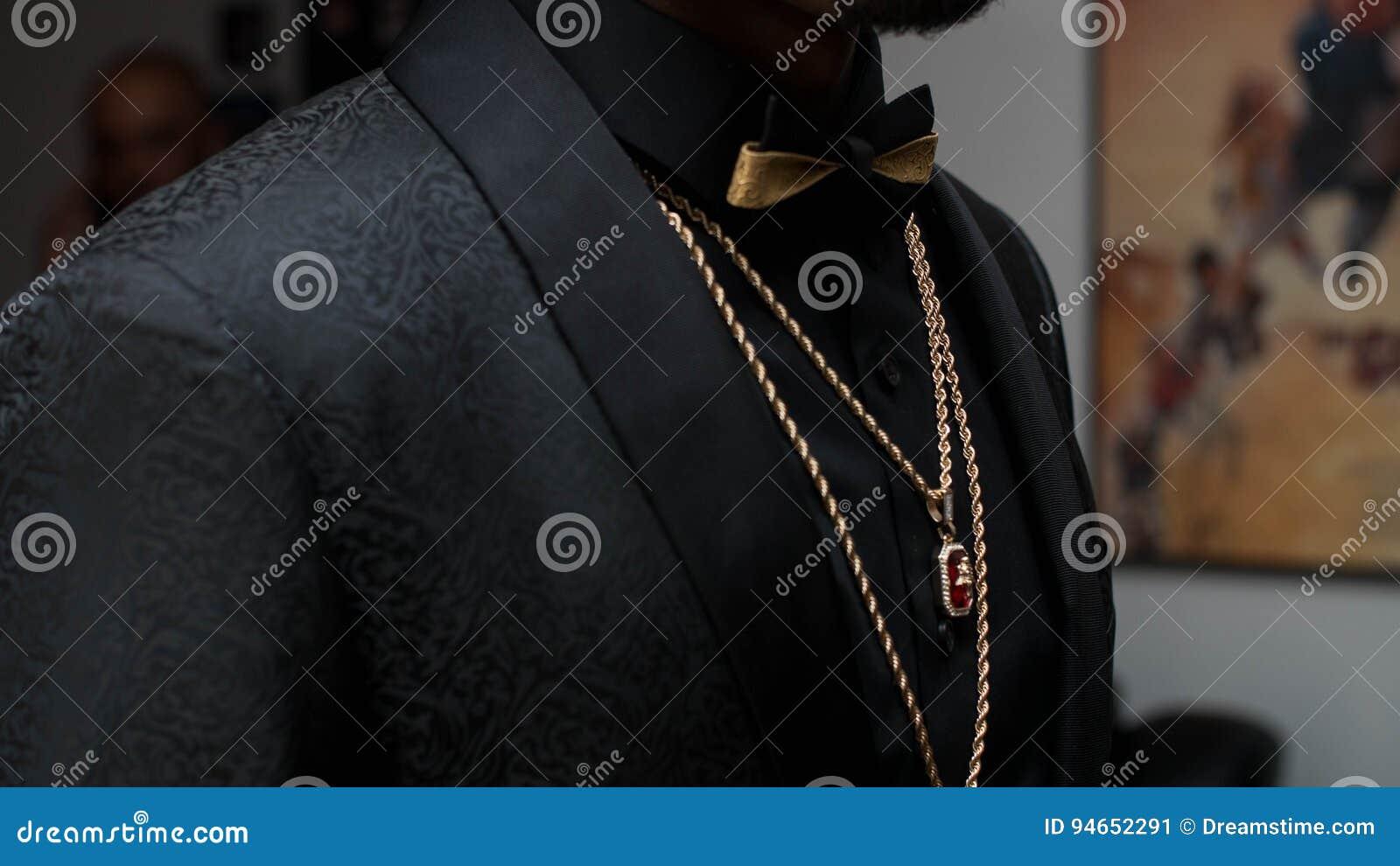 Black Suit With Bowtie
