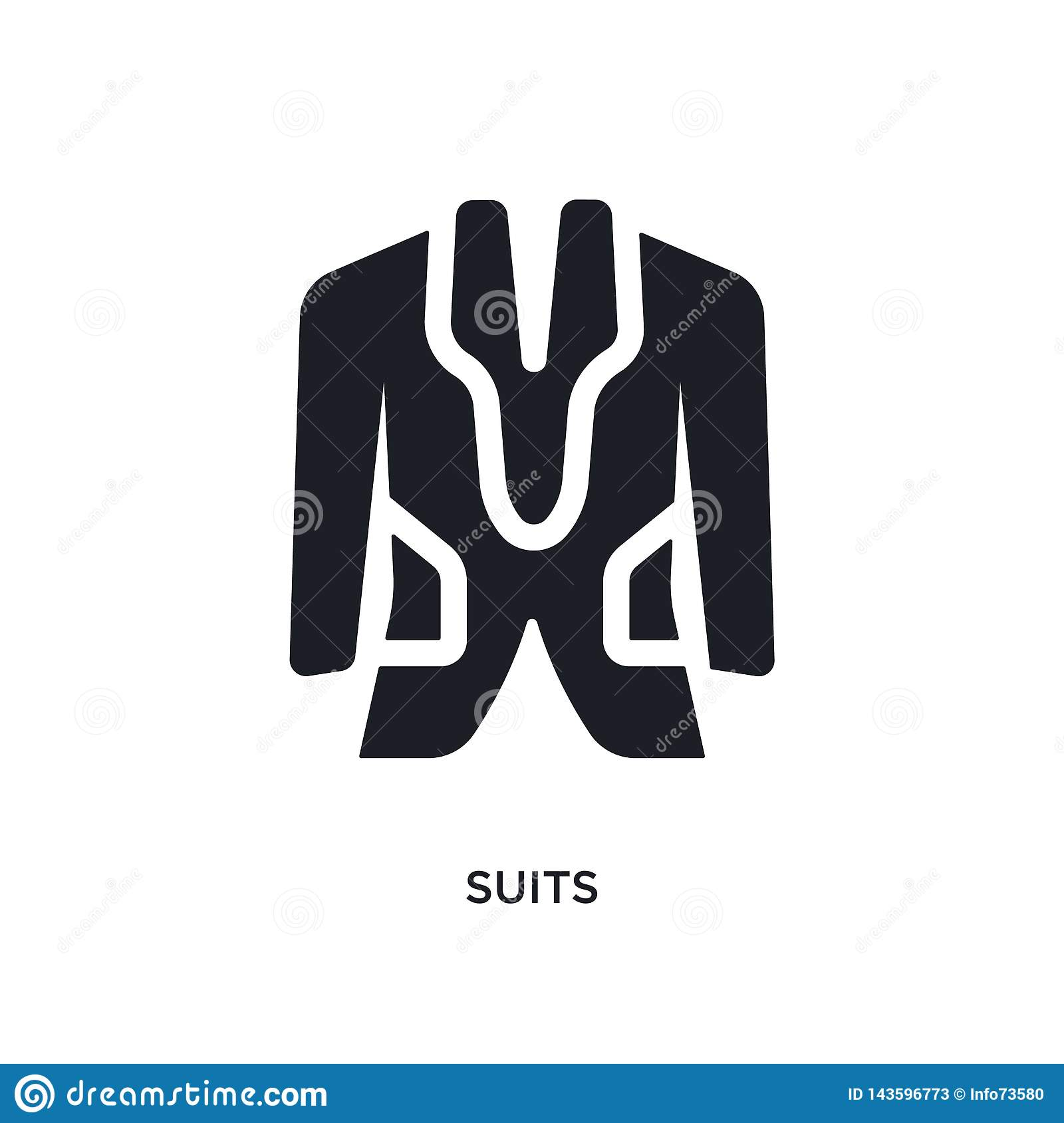 Black Suits Isolated Vector Icon  Simple Element