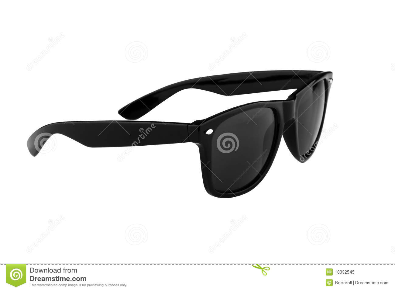 Sunglasses Clipart Black And White Black sunglasses isolated on