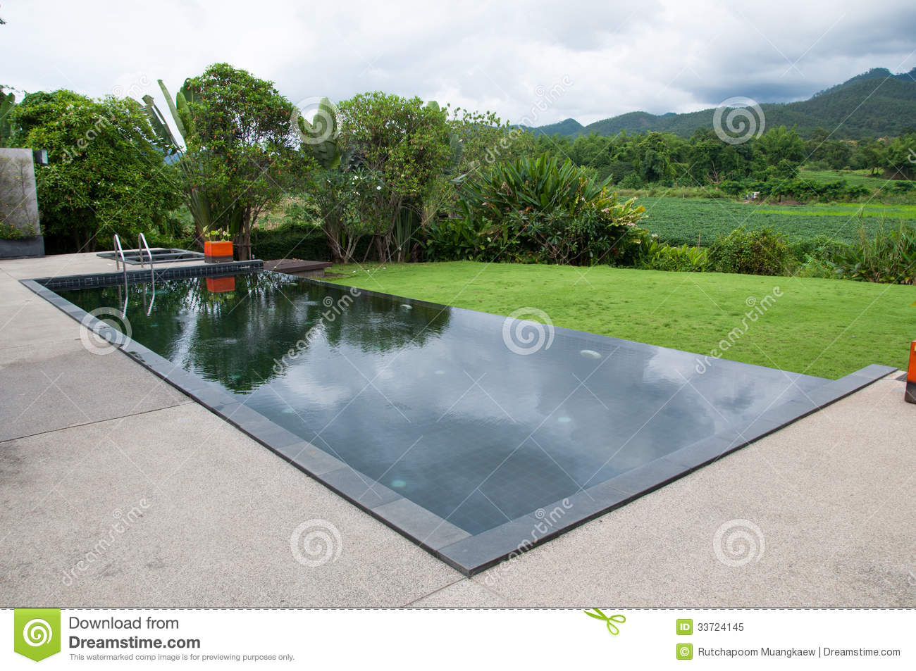 The Black Swimming Pool Royalty Free Stock Photo Image 33724145