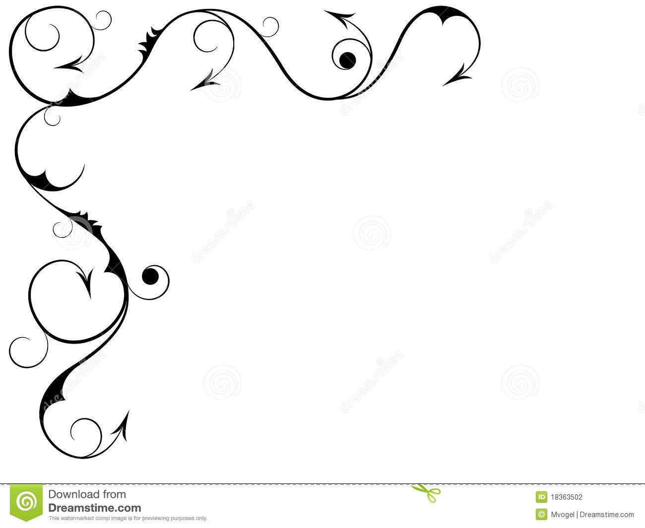 Black Swirls Stock Vector Illustration Of White Graphic 18363502
