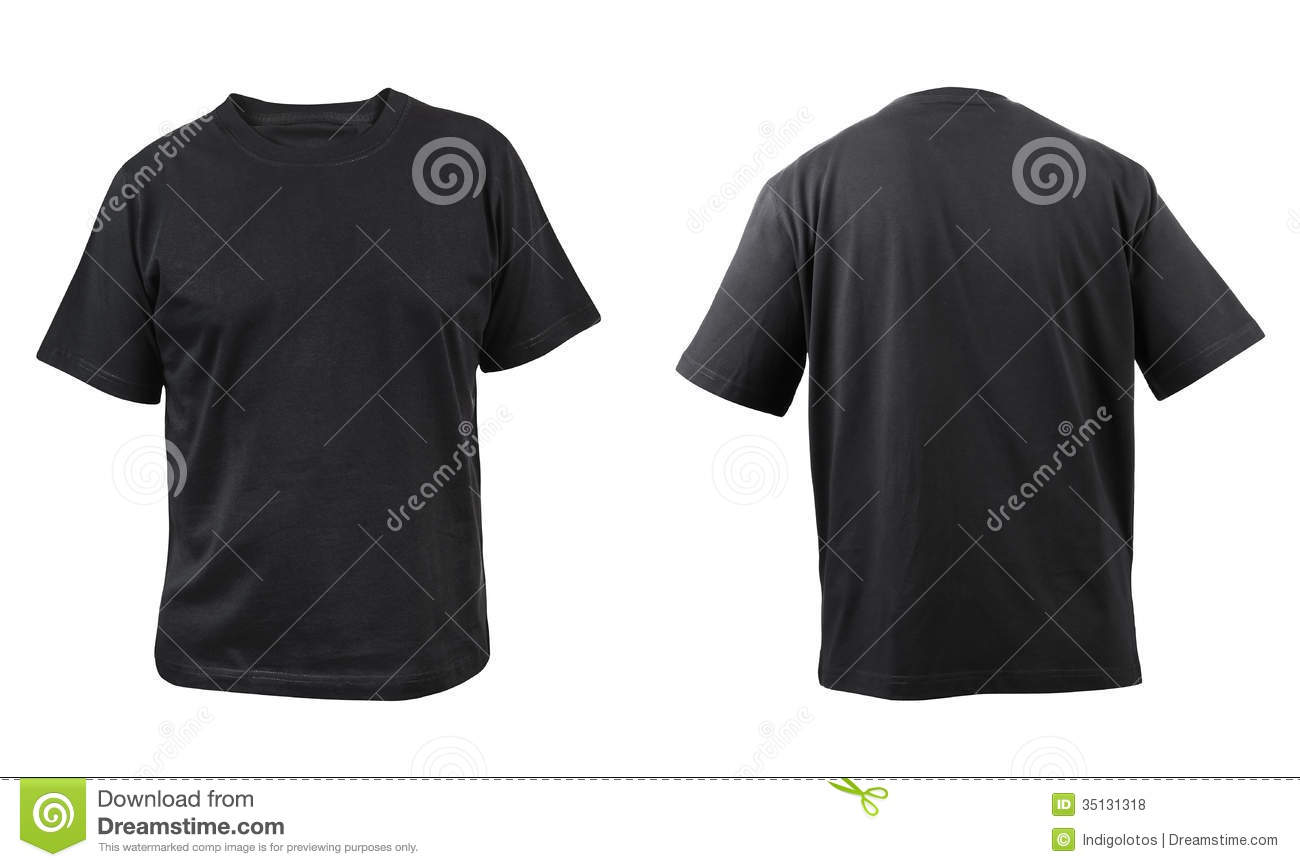 Vector men s polo shirt design template front view polo shirt with - Black T Shirt Front And Back View Royalty Free Stock