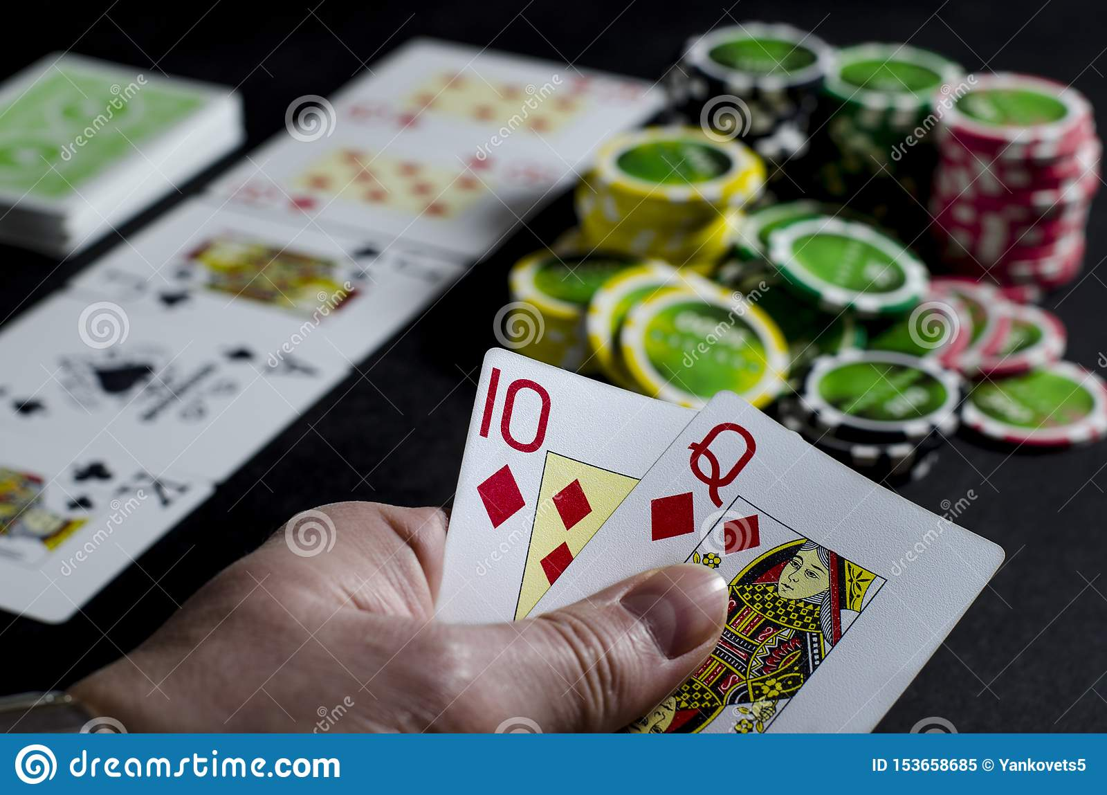 Dollars person looking at their cards in poker Sniper Practice free slots