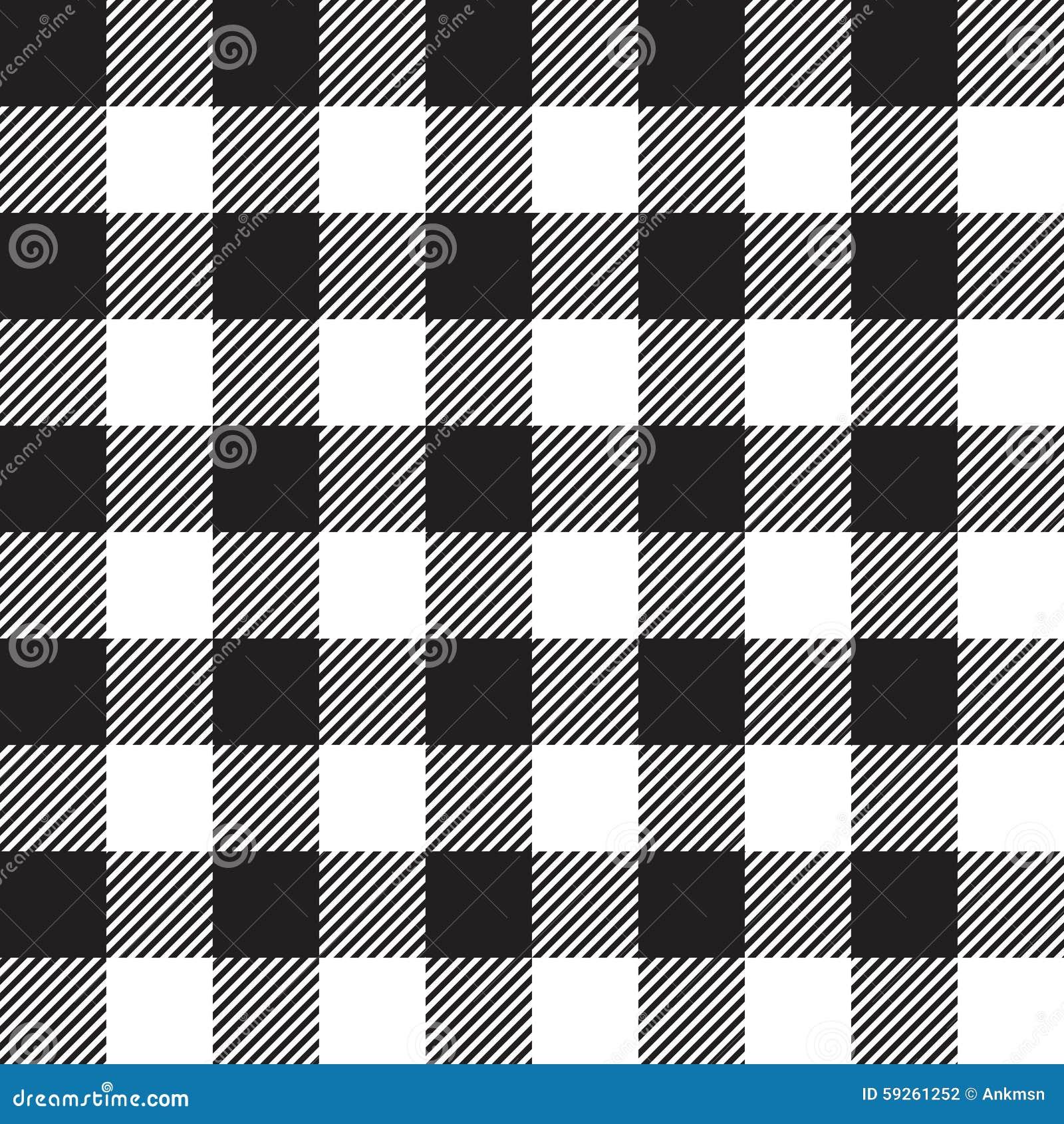 Black Tablecloth Seamless Pattern